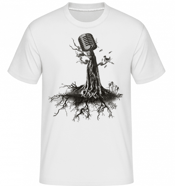 Microphone Tree -  Shirtinator Men's T-Shirt - White - Vorn