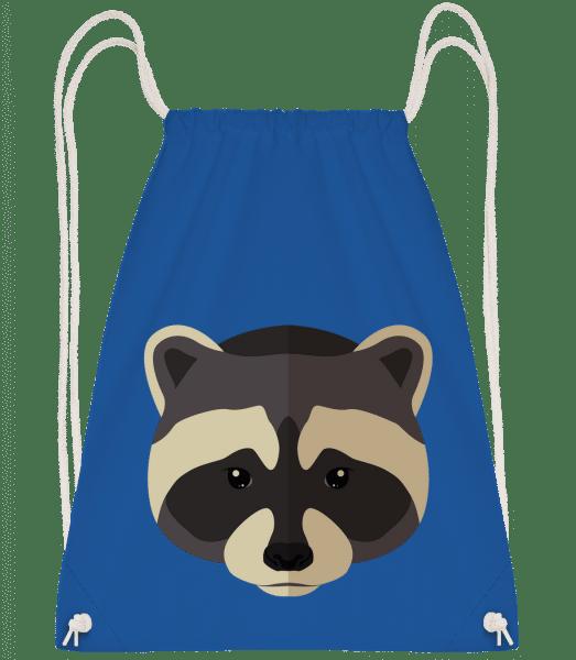 Racoon Comic Shadow - Drawstring Backpack - Royal blue - Vorn