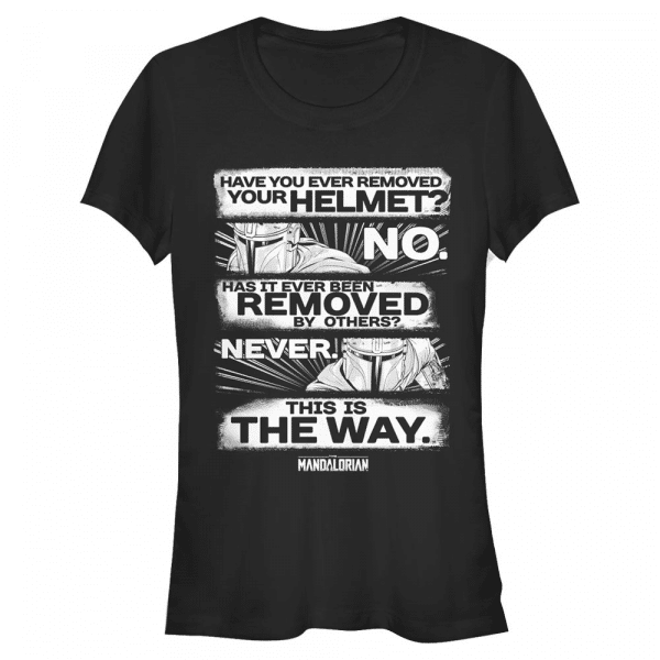 This is the Way - Star Wars Mandalorian - Women's T-Shirt - Black - Front