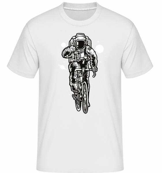 Astronaut Bicycle -  Shirtinator Men's T-Shirt - White - Vorn