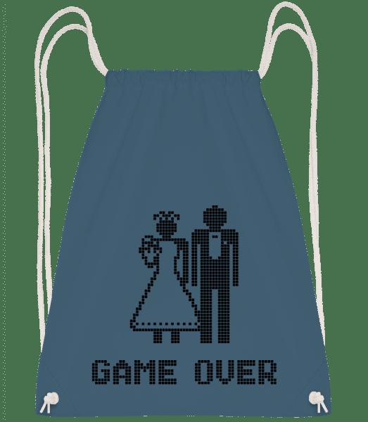 Game Over Sign Black - Drawstring Backpack - Navy - Vorn