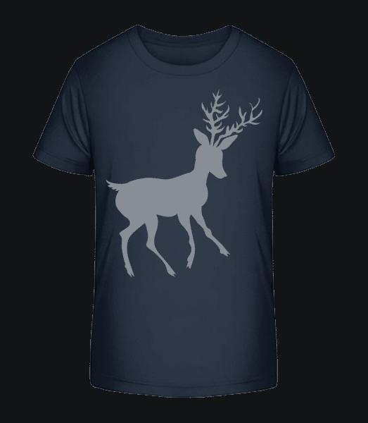Christmas Reindeer - Kid's Premium Bio T-Shirt - Navy - Front