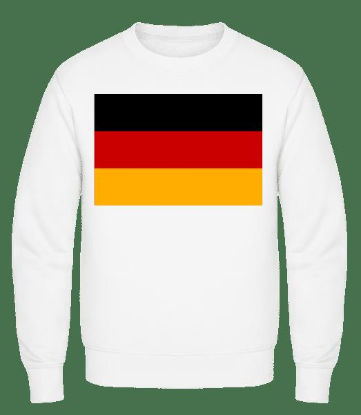 Flag Germany - Classic Set-In Sweatshirt - White - Vorn