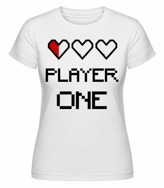 Player One -  T-shirt Shirtinator femme - Blanc - Vorn
