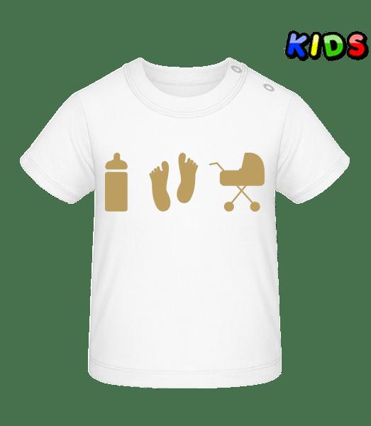 Dětské motivy - Tričko pro miminka - Bílá - Napřed