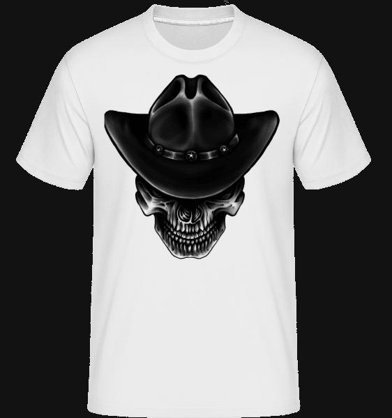 Cowboy Skull -  T-Shirt Shirtinator homme - Blanc - Devant