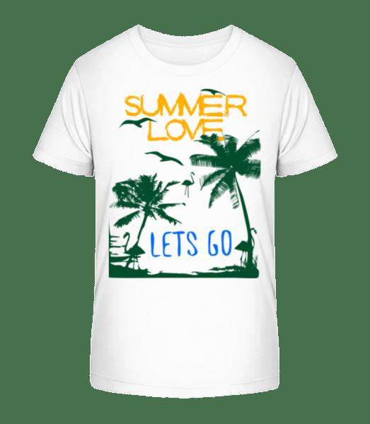 Summer Love Icon - Kid's Premium Bio T-Shirt - White - Vorn