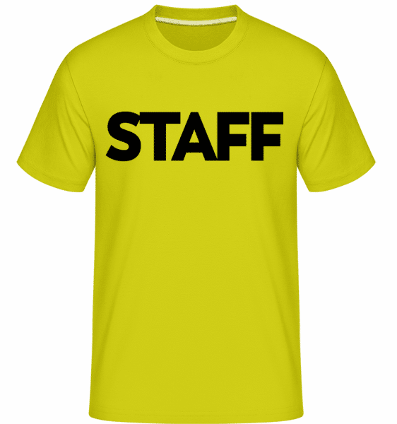 Staff -  Shirtinator Men's T-Shirt - Apple green - Vorn