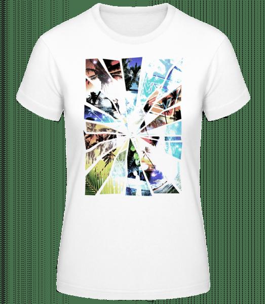 Holiday Splinter - Women's Basic T-Shirt - White - Vorn
