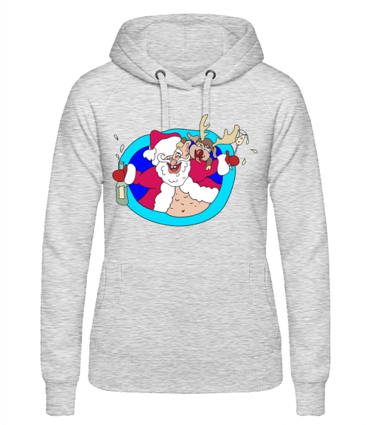 Drunken Christmas - Women's hoodie - Heather grey - Vorn