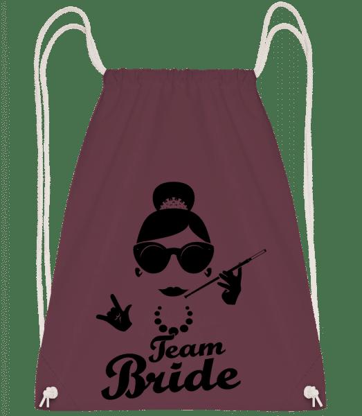Team Bride - Drawstring Backpack - Bordeaux - Vorn