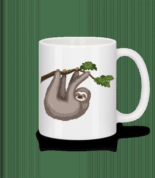 Sloth Hanging On A Branch - Mug - White - Vorn