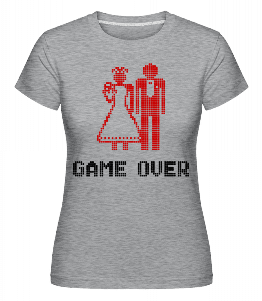Game Over Sign Red -  Shirtinator Women's T-Shirt - Heather grey - Vorn
