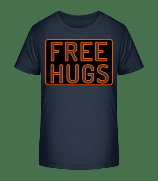 Free Hugs - Kid's Premium Bio T-Shirt - Navy - Vorn