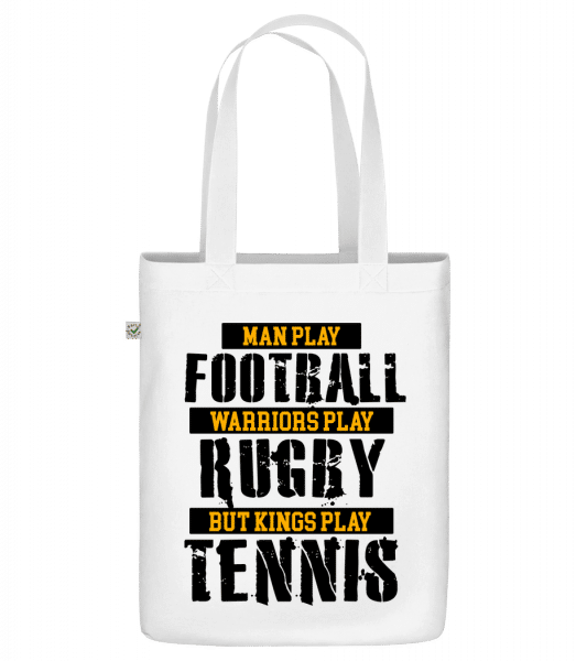 """Kings Play Tennis - Organic """"Earth Positive"""" tote bag - White - Vorn"""