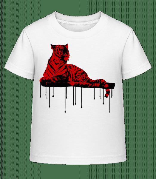 Red Tiger - Kid's Shirtinator T-Shirt - White - Vorn
