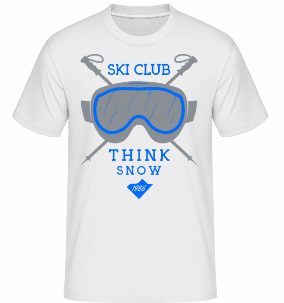 Ski Club Sign -  Shirtinator Men's T-Shirt - White - Vorn