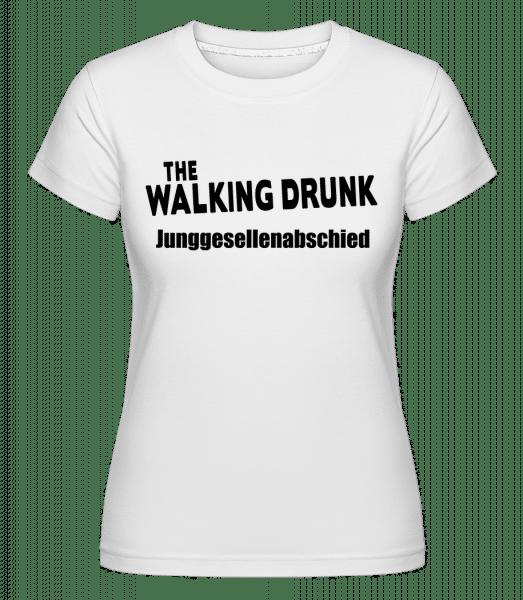 JGA The Walking Drunk - Shirtinator Frauen T-Shirt - Weiß - Vorn
