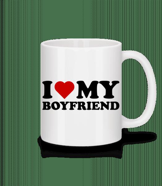 I Love My Boyfriend - Mug - White - Vorn
