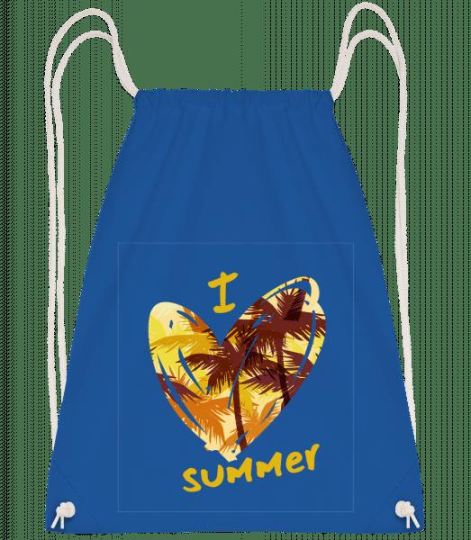 I Love Summer Heart - Turnbeutel - Royalblau - Vorn