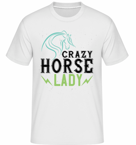 Crazy Horse Lady -  Shirtinator Men's T-Shirt - White - Vorn