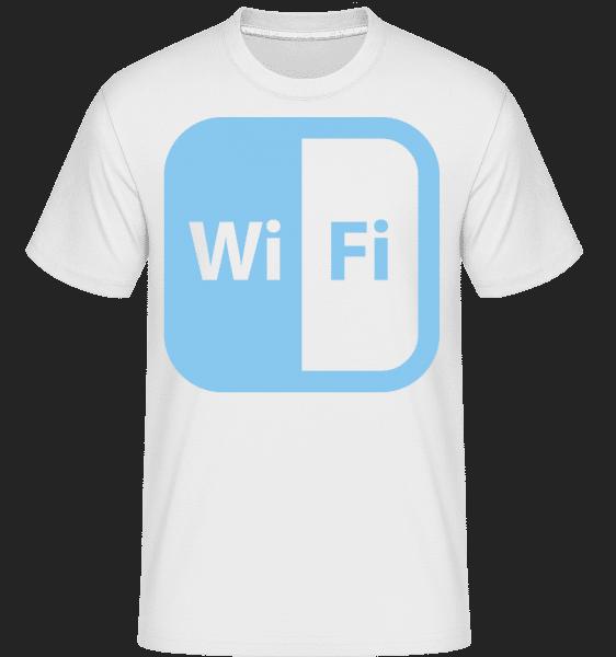 WiFi Icon Blue - Shirtinator Männer T-Shirt - Weiß - Vorn