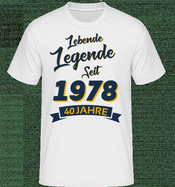 Legende Jahrgang 1978 - Shirtinator Männer T-Shirt - Weiß - Vorn