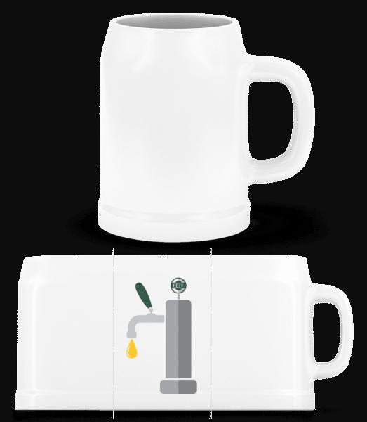 Robinet - Chope de bière - Blanc - Devant