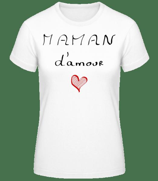 Maman D'Amour - T-shirt standard Femme - Blanc - Devant