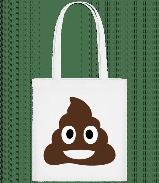 Shit Emoji - Carrier Bag - White - Vorn