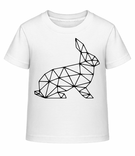 Polygon Rabbit - Kid's Shirtinator T-Shirt - White - Vorn