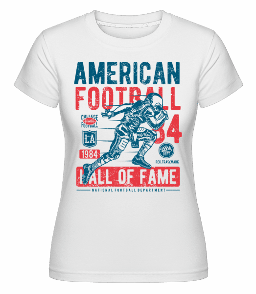 American Football -  Shirtinator Women's T-Shirt - White - Vorn