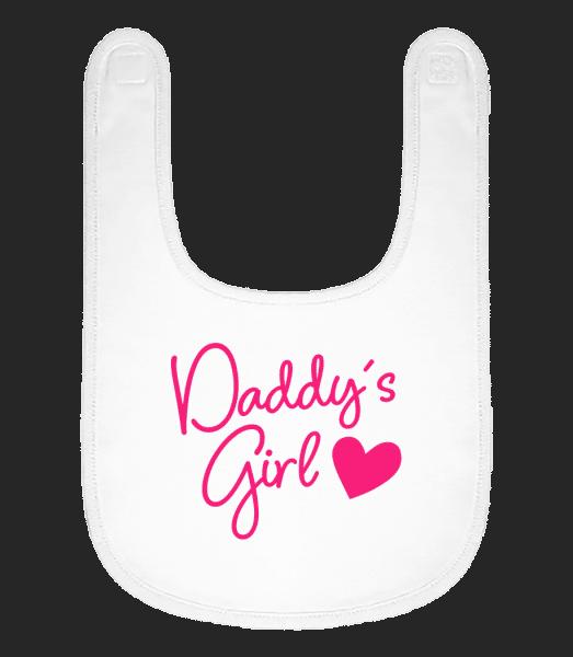 Daddy's Girl - Baby Bib - White - Vorn