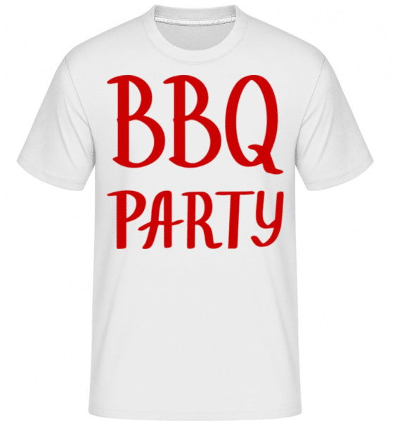 BBQ Party Logo -  Shirtinator Men's T-Shirt - White - Front