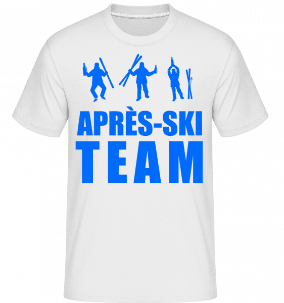 Après Ski Team -  Shirtinator Men's T-Shirt - White - Vorn