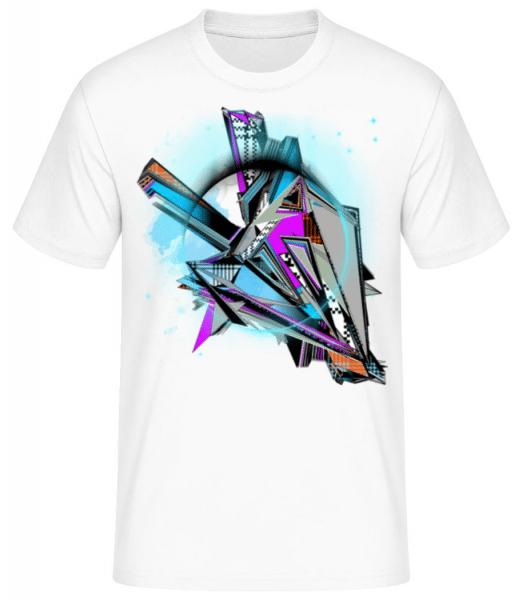 Geometry Graffiti - Men's Basic T-Shirt - White - Front