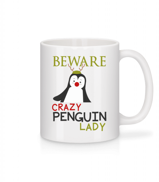 Beware Of Penguin Lady - Tasse - Weiß - Vorn