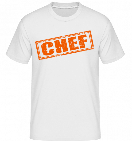Chef Sign -  Shirtinator Men's T-Shirt - White - Vorn