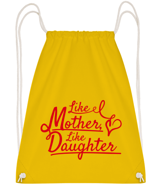 Like Mother Like Daughter - Drawstring Backpack - Yellow - Vorn