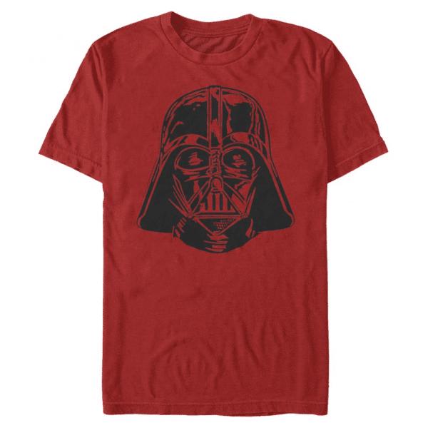 Darth Vader Face - Star Wars - Men's T-Shirt - Red - Front