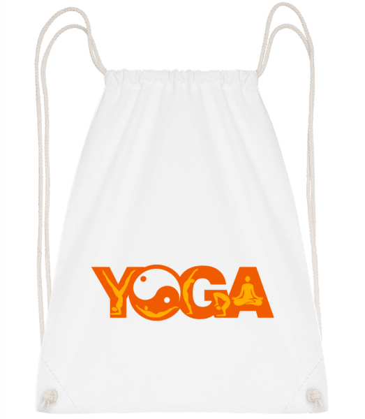 Yoga Sign Orange - Sac à dos Drawstring - Blanc - Devant