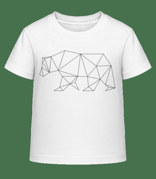 Polygon Bear - Kid's Shirtinator T-Shirt - White - Vorn