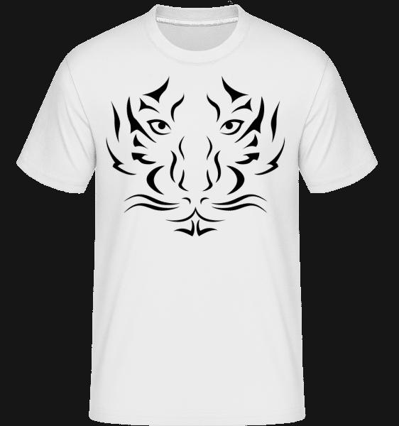 Tiger Head -  Shirtinator tričko pre pánov - Biela - Predné