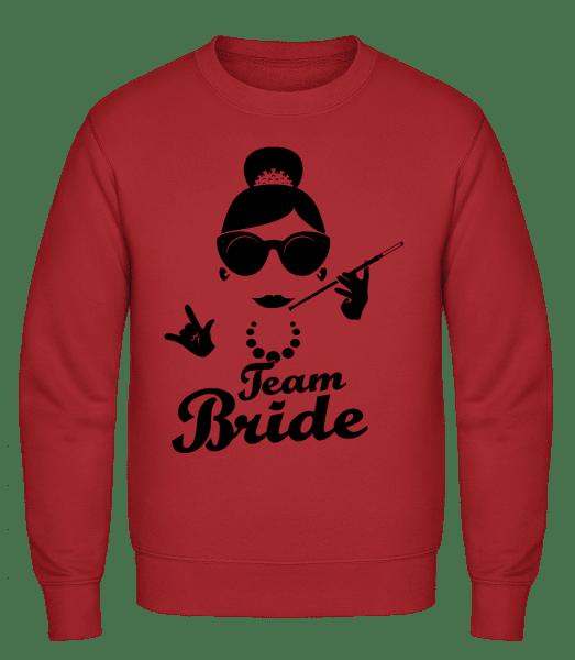 Team Bride - Classic Set-In Sweatshirt - Red - Vorn