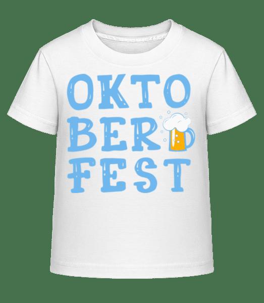 Oktoberfest - Kid's Shirtinator T-Shirt - White - Vorn