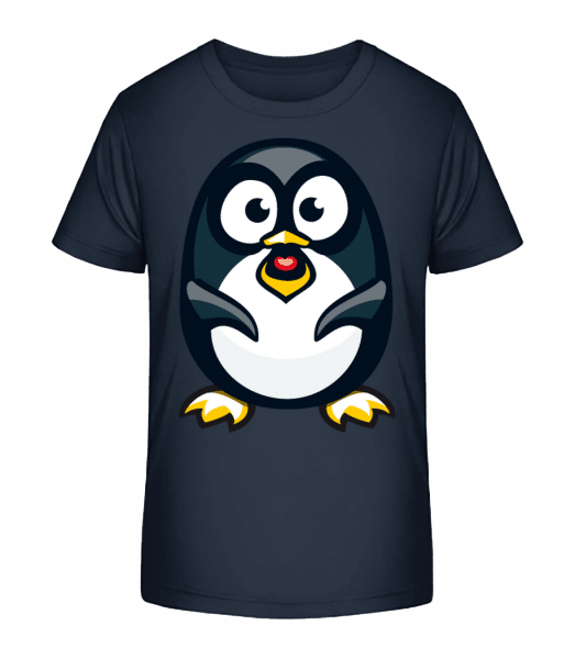Love Penguin - Kid's Premium Bio T-Shirt - Navy - Front
