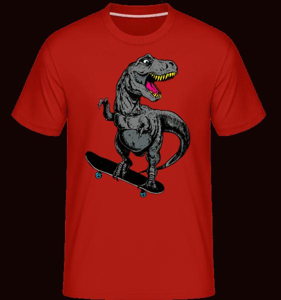 T-Rex korčuliar -  Shirtinator tričko pre pánov - Červená - Predné