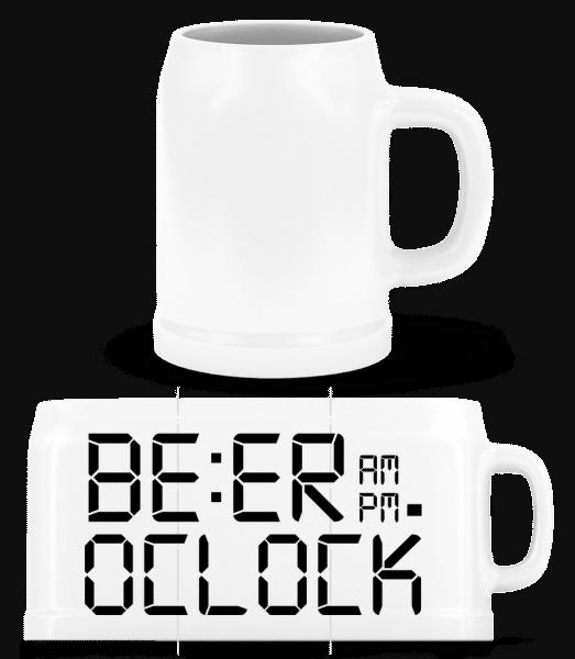 Beer O'Clock - Beer Mug - White - Vorn