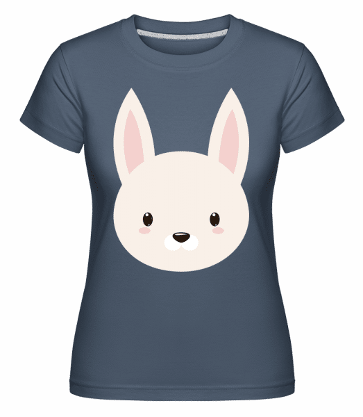 Bunny Comic -  Shirtinator Women's T-Shirt - Denim - Vorn