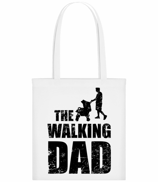 The Walking Dad - Carrier Bag - White - Vorn